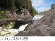 Купить «Водопад Кивач, Карелия», фото № 2657560, снято 25 мая 2008 г. (c) Алексей Кузнецов / Фотобанк Лори