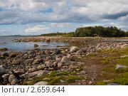 Купить «Каменистое побережье Белого моря», эксклюзивное фото № 2659644, снято 19 августа 2007 г. (c) Родион Власов / Фотобанк Лори