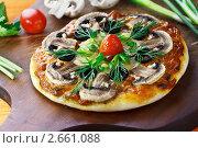 Купить «Детская пицца с грибами», эксклюзивное фото № 2661088, снято 24 июня 2011 г. (c) Ирина Завьялова / Фотобанк Лори