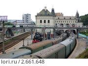 Здание Владивостокского железнодорожного вокзала. Стоковое фото, фотограф Елена Семистенова / Фотобанк Лори