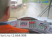 Купить «Кабина трамвая 71-514М», фото № 2664908, снято 7 мая 2011 г. (c) Олеся Сарычева / Фотобанк Лори