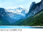 Купить «Альпийское озеро Госау. Австрия», фото № 2668112, снято 4 июня 2011 г. (c) Юрий Брыкайло / Фотобанк Лори