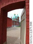 Церковь с голубыми куполами (2011 год). Стоковое фото, фотограф Ольга Зенухина / Фотобанк Лори