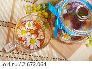 Купить «Ромашковый чай», фото № 2672064, снято 22 июля 2011 г. (c) Ольга Красавина / Фотобанк Лори