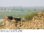 Купить «Руины Танаиса на фоне дельты Дона», фото № 2675296, снято 14 мая 2011 г. (c) Борис Панасюк / Фотобанк Лори