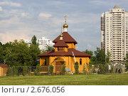 Строительство православной часовни с звонницей в г.Москве (2011 год). Стоковое фото, фотограф Марков Николай / Фотобанк Лори