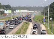 Пробка на шоссе (2011 год). Редакционное фото, фотограф Дмитрий Куш / Фотобанк Лори