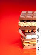 Купить «Шоколад с орехами и черносливом», фото № 2680284, снято 7 мая 2011 г. (c) Сергей Новиков / Фотобанк Лори