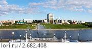 Купить «Чебоксары, панорама города», фото № 2682408, снято 17 августа 2019 г. (c) ElenArt / Фотобанк Лори