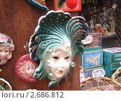 Венецианская маска -сувенир (2010 год). Редакционное фото, фотограф Марина / Фотобанк Лори