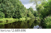Река в лесу. Стоковое фото, фотограф Елена Рубанова / Фотобанк Лори