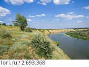 Купить «Крутояр на Дону», фото № 2693368, снято 15 июля 2011 г. (c) Борис Панасюк / Фотобанк Лори