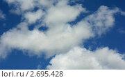Купить «Белые облака и синее небо. Таймлапс.», видеоролик № 2695428, снято 16 июня 2009 г. (c) Юрий Пономарёв / Фотобанк Лори