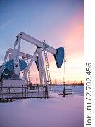 Купить «Нефтяные насосы», фото № 2702456, снято 12 декабря 2010 г. (c) bashta / Фотобанк Лори