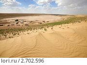 Купить «Аул среди песков Кара-кум», фото № 2702596, снято 9 мая 2009 г. (c) Наталья Громова / Фотобанк Лори