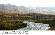 Купить «Пейзаж с горной рекой. Киргизия.», видеоролик № 2705372, снято 14 сентября 2010 г. (c) Юрий Пономарёв / Фотобанк Лори