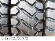 Купить «Протектор шины грузового автомобиля», фото № 2705972, снято 2 июня 2010 г. (c) Александр Косарев / Фотобанк Лори