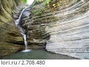 Купить «Сочи, водопад Псыдах», фото № 2708480, снято 7 августа 2011 г. (c) Анна Мартынова / Фотобанк Лори