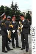 Купить «Музыканты полицейского оркестра», эксклюзивное фото № 2712696, снято 12 июня 2011 г. (c) Free Wind / Фотобанк Лори