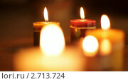 Купить «Горящие свечи», видеоролик № 2713724, снято 17 марта 2010 г. (c) ILLYCH / Фотобанк Лори
