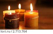 Купить «Горящие свечи», видеоролик № 2713764, снято 17 марта 2010 г. (c) ILLYCH / Фотобанк Лори