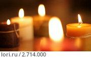 Купить «Горящие свечи», видеоролик № 2714000, снято 17 марта 2010 г. (c) ILLYCH / Фотобанк Лори