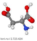 Купить «Шаростержневая модель молекулы аспарагиновой кислоты», иллюстрация № 2723424 (c) Владимир Федорчук / Фотобанк Лори