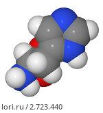 Купить «Полусферическая (объемная) модель молекулы гистидина», иллюстрация № 2723440 (c) Владимир Федорчук / Фотобанк Лори