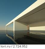 Современный дом с бассейном, иллюстрация № 2724952 (c) Юрий Бельмесов / Фотобанк Лори