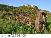 Старая тракторная борона. Стоковое фото, фотограф Наталья Райхель / Фотобанк Лори