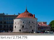 Купить «Круглая башня на Рыночной площади. Выборг», фото № 2734776, снято 31 июля 2011 г. (c) Виктор Карасев / Фотобанк Лори