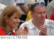 Купить «Бизнесмен Потанин Владимир Олегович с супругой», фото № 2738532, снято 26 июня 2005 г. (c) Юлий Шик / Фотобанк Лори
