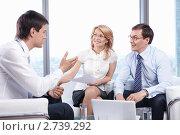 Купить «Бизнес-команда в офисе», фото № 2739292, снято 1 июня 2011 г. (c) Raev Denis / Фотобанк Лори