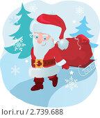 Купить «Дед Мороз с подарками», иллюстрация № 2739688 (c) Зданчук Светлана / Фотобанк Лори