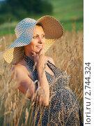 Купить «Будущая мама в пшеничном поле», фото № 2744324, снято 18 января 2019 г. (c) Дмитрий Калиновский / Фотобанк Лори