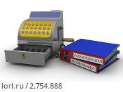 Купить «Ликвидация компании. Пустой кассовый аппарат», иллюстрация № 2754888 (c) WalDeMarus / Фотобанк Лори