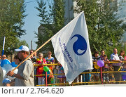 Купить «Флаг Русбурмаша», фото № 2764620, снято 27 августа 2011 г. (c) Геннадий Соловьев / Фотобанк Лори