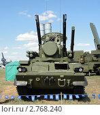 """Зенитный ракетно-пушечный комплекс 2K22M1 """"Тунгуска-М1"""" (2011 год). Редакционное фото, фотограф Сизов Евгений / Фотобанк Лори"""