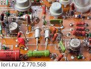 Старые радиодетали на печатной плате, эксклюзивное фото № 2770568, снято 3 сентября 2011 г. (c) Константин Косов / Фотобанк Лори
