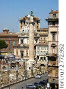 Купить «Рим. Вид на колонну Траяна и площадь Венеции с форума Траяна», фото № 2772952, снято 25 июня 2011 г. (c) Наталья Белотелова / Фотобанк Лори