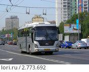 """Купить «Автобус """"Москва - Ярославль"""" № 974 едет по Щелковскому шоссе», эксклюзивное фото № 2773692, снято 30 августа 2011 г. (c) lana1501 / Фотобанк Лори"""
