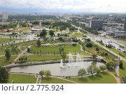 Панорама Минска. Вид с Национальной Библиотеки (2011 год). Редакционное фото, фотограф Иван Козлов / Фотобанк Лори