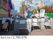 Купить «Лагерь сторонников Юлии Тимошенко на Крещатике», фото № 2780076, снято 3 сентября 2011 г. (c) Владимир Горощенко / Фотобанк Лори