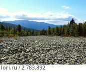Купить «Каменная река. Вид на хребет Мартай.», фото № 2783892, снято 17 августа 2011 г. (c) Евгений Ткачёв / Фотобанк Лори