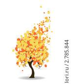 Осеннее дерево. Стоковая иллюстрация, иллюстратор Евгения Малахова / Фотобанк Лори