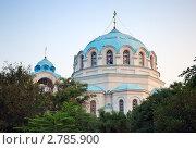 Купола Свято-Николаевского собора в Евпатории (2010 год). Стоковое фото, фотограф Алексей Голубенко / Фотобанк Лори