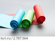 Купить «Рулоны разноцветной бумаги», фото № 2787564, снято 14 февраля 2011 г. (c) Elnur / Фотобанк Лори