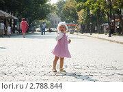 Купить «Маленькая девочка на городской улице», фото № 2788844, снято 10 августа 2011 г. (c) Сергей Фастов / Фотобанк Лори