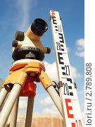 Купить «Оборудование для геодезических исследований», фото № 2789808, снято 20 мая 2019 г. (c) Дмитрий Калиновский / Фотобанк Лори