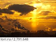 Городской пейзаж на закате. Стоковое фото, фотограф Евгения Фурсова / Фотобанк Лори